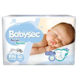 Babysec Pañal Recien Nacido X40