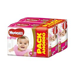 Huggies Pañales Nc M X 136 Ellas Pack Ahorro