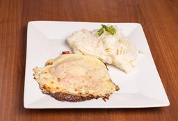 Finito de Pollo con Huevo Frito + Guarnición