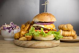 Burger Clásica + Papas Rústicas