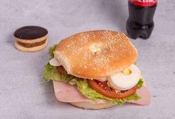 Bagel Olímpico + Refresco 250 ml + Postre