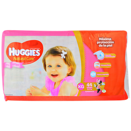 Huggies Nat Care Xg Ellas 44