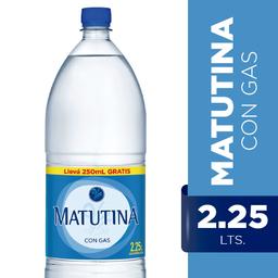 Agua Matutina Con Gas 2.25 Lt.