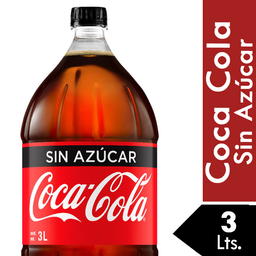 Refresco Coca Cola Sin Azucar 3 Lt.