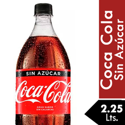 Refresco Coca Cola Zero 2.25 Lt.