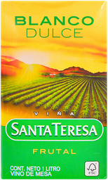 Vino Blanco Frutal Santa Teresa 1 Lt.