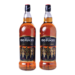 Whisky 100 Pipers Deluxe 1 Lt. X 2 Unidades