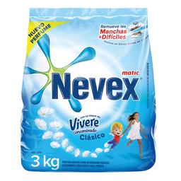 Jabon En Polvo Nevex Be Toque Vivere Clasico 3 Kg.