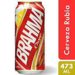 Cerveza Brahma Chopp 473 Ml. Lata