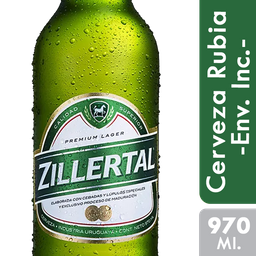Cerveza Zillertal 970 Ml. Retornable