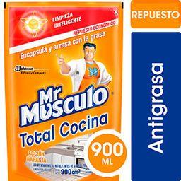 Limpiador Para Cocina Antigrasa Mr Musculo 900 Ml.