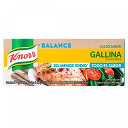 Caldos De Gallina Menos Sodio Knorr 12 Cubos 114 Grs.