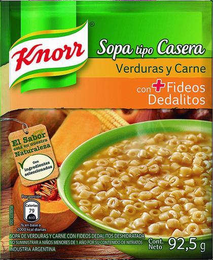 Knorr Sopa Casera Verdura Con Fideos Dedalitos