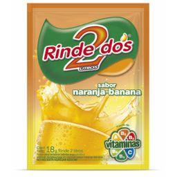 Jugo en Polvo Rinde 2 Sabor Naranja/banana