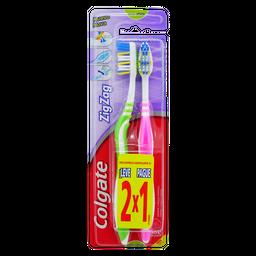 Cepillo Dental Colgate Zig Zag Plus 2 X 1