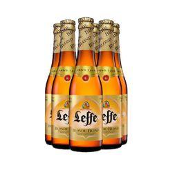 Cerveza belga Leffe rubia 330 ml x 6 Unidades
