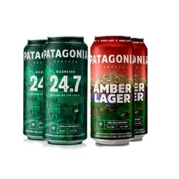 Pack X4 Patagonia Lata Amber Lager 473 Ml