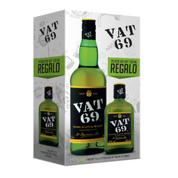 Whisky Vat 69 1 Lt. + Petaca 375 Ml.