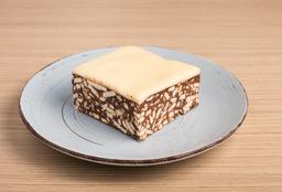 Salchichón de Chocolate con Chocolate Blanco