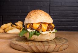 Burger Doble Doble + Papas Rústicas