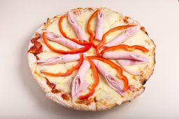 Pizza Muzzarella con 2 Gustos