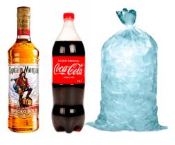 Morgan litro + Coca Cola 1,5 + Hielo bolsa 3 kilos