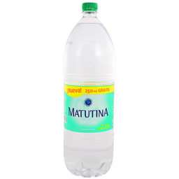 Agua Matutina Sin Gas 2.25 mL