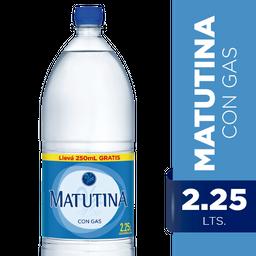 Agua Mineral Matutina Con Gas 2.5 L