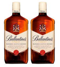 Whisky Escoces Ballantines 1 Litro x 2
