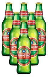 Cerveza Tsingtao Botella 330  x 6