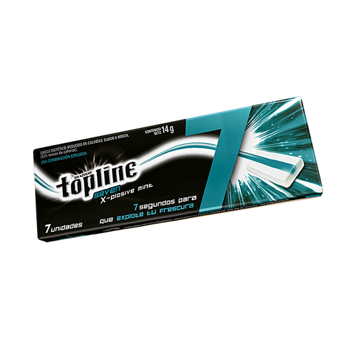 Chicles Topline Seven Xplosive Mint 7 U