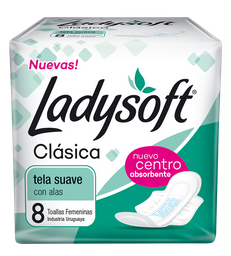 Toalla Femenina Ladysoft Clásica Con Alas 8 U