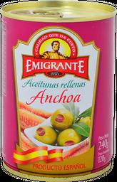 Aceitunas Rellenas Emigrante Con Anchoa Lata 240 g