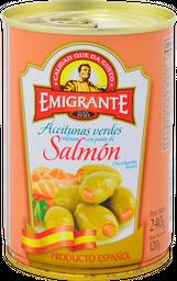 Aceitunas Rellenas Emigrante Con Salmón Lata 240 g