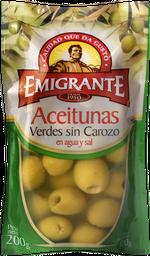 Aceitunas Emigrantes Verde Sin Carozo 100 g