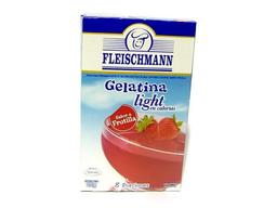 Gelatina Fleischmann Frutilla Light 25 g