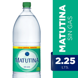 Agua Matutina Sin Gas 2.25 L