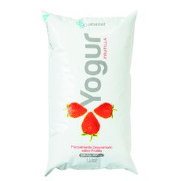 Yogur Colonial Descremado Frutilla 1 L
