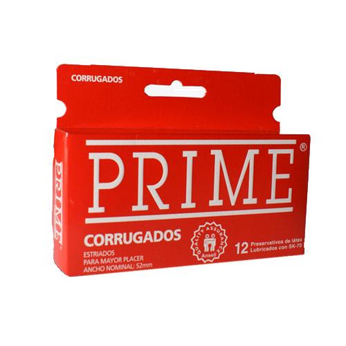 Prime Preservativo Corrugado Rojo 12 U