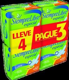 Siempre Libre Pack 4X3 Toalla Fem Especial Alasx8