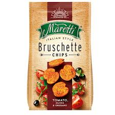 Tostadas Maretti Bruschette Bites Tomato. Olives y Oregano