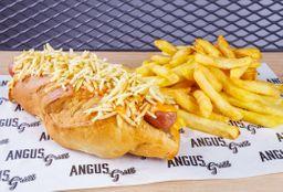 Hot Dog Simple con Papas Fritas