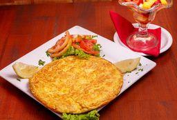 Tortilla y Postre