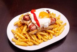 Pancho Bacon x 2 + Papas