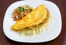 Omelette relleno + guarnición