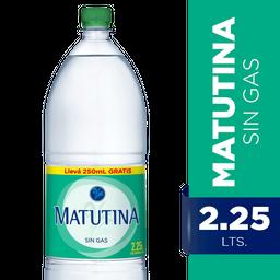 Agua Mineral Matutina Sin Gas 2.25 L