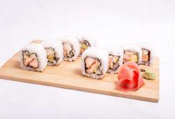 Salmón Crunch Roll x 10