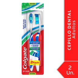 Colgate Cepillo Dental Trp Accion Med 2X1