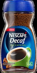 Cafe Instantaneo Nescafe Decaf Sin Cafeina 100 g