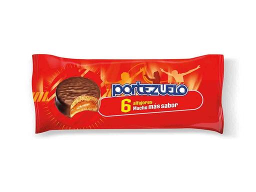 Portezuelo Alfajor De Chocolate X 6